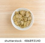 top view of marinated artichoke ... | Shutterstock . vector #486893140