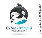 Vector Illustration. Logo Orca...