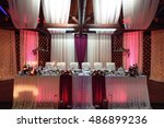 stylish decorated tables with... | Shutterstock . vector #486899236