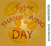 happy thanksgiving day  holiday ... | Shutterstock .eps vector #486900928