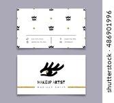 makeup artist business card ...   Shutterstock .eps vector #486901996