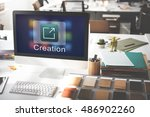 creation design digital gadget... | Shutterstock . vector #486902260