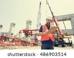 architecture construction... | Shutterstock . vector #486903514
