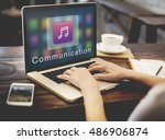 application connection digital... | Shutterstock . vector #486906874