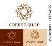 coffee shop logo concept. | Shutterstock .eps vector #486912400