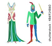 fictional outfits inspired by... | Shutterstock .eps vector #486914860