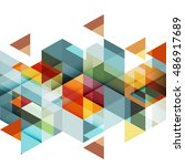 abstract colorful geometric and ... | Shutterstock .eps vector #486917689