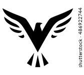 illustration of black bird icon ... | Shutterstock . vector #486922744