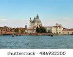 beautiful panorama of venice ... | Shutterstock . vector #486932200