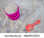 Toy Bucket Shovel Sand On The...