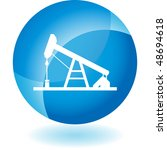 oil rig web button isolated on... | Shutterstock .eps vector #48694618