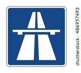 germany motorway sign | Shutterstock .eps vector #486957493