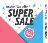 set of  modern discount shape...   Shutterstock .eps vector #486962878
