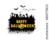 halloween card. | Shutterstock .eps vector #486975814