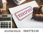 Small photo of Verified Certified Affirm Authorised Approve Concept
