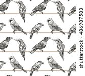seamless pattern with sketches... | Shutterstock .eps vector #486987583