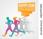 run  running poster | Shutterstock .eps vector #486990580