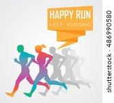 run  running poster | Shutterstock .eps vector #486990580
