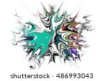 abstract digital painting...   Shutterstock . vector #486993043
