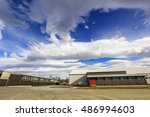 blue sky with dramatic cloud... | Shutterstock . vector #486994603