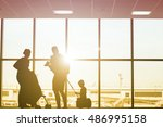 family travel preparing for... | Shutterstock . vector #486995158