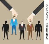 recruitment  employee  business ... | Shutterstock .eps vector #486996970