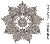 beautiful mandala   Shutterstock .eps vector #486999319