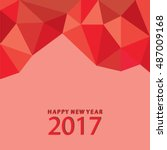greeting card happy new year... | Shutterstock .eps vector #487009168