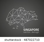 singapore vector black triangle ... | Shutterstock .eps vector #487022710