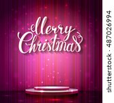 holiday banner with place for... | Shutterstock .eps vector #487026994