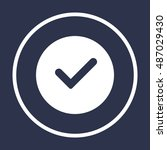 check  icon vector. flat design. | Shutterstock .eps vector #487029430