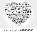 thank you love heart word cloud ... | Shutterstock .eps vector #487030348