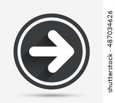 arrow sign icon. next button.... | Shutterstock .eps vector #487034626