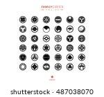 japanese family crests... | Shutterstock .eps vector #487038070