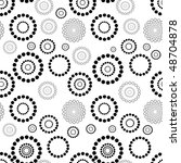 seamless texture with circles | Shutterstock . vector #48704878