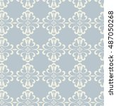 vector seamless wallpaper... | Shutterstock .eps vector #487050268