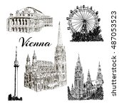 set of vienna symbols.... | Shutterstock .eps vector #487053523