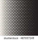vector seamless black and white ... | Shutterstock .eps vector #487057249