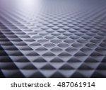 beautiful black rhombic texture | Shutterstock . vector #487061914