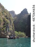 nature of thailand at the day ... | Shutterstock . vector #487064656