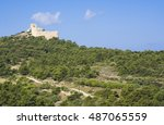 ruins of a castle in kritinia... | Shutterstock . vector #487065559