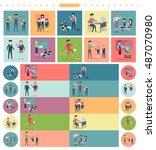 set of school education.... | Shutterstock . vector #487070980