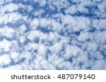 Small photo of beautiful blue sky with altocumulus floccus