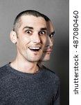 concept of schizophrenia ... | Shutterstock . vector #487080460