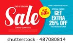 sale banner template design | Shutterstock .eps vector #487080814