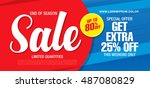 sale banner template design | Shutterstock .eps vector #487080829