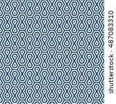 vector seamless pattern. modern ... | Shutterstock .eps vector #487083310