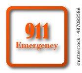 911 emergency icon. internet... | Shutterstock . vector #487083586