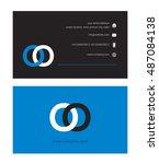 o   o  letter logo  with... | Shutterstock .eps vector #487084138