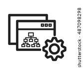 sitemap settings   Shutterstock .eps vector #487098298